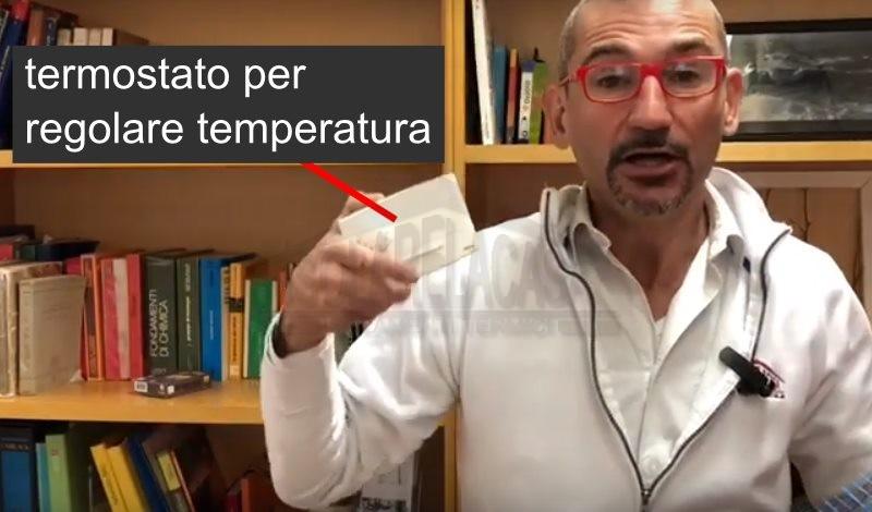 termostato per regolare temperatura armadio